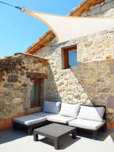 Gite ardèche pierre terrasse